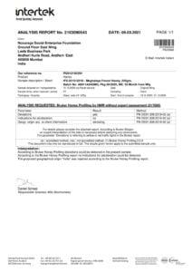 Meghalaya Forest Honey - Intertek Report